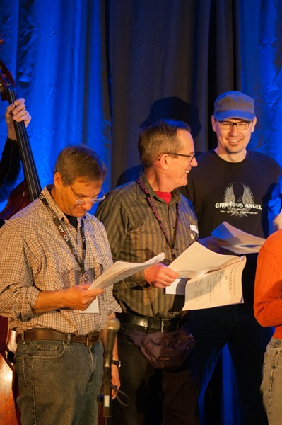 Bob Nesbitt (center) in the Weekend Choir