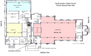 Floor Plan of Southminister United Church - First & Second Floor