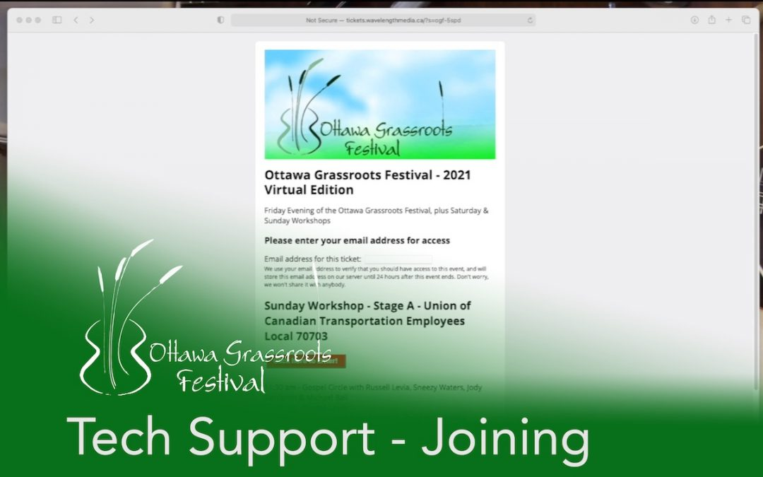 Tech Tip #2: Getting in to the Festival (with video)