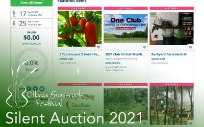Ottawa Grassroots Festival Silent Auction 2021